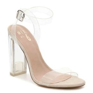 Brand New Clear Lucite Ankle Strap Heels (SIZE 7)